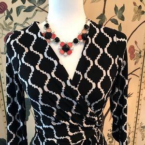 White House Black Market Faux Wrap Dress 6P